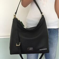 NEW! KATE SPADE Prospect Place Kaia Leather Hobo Shoulder Crossbody Bag Black