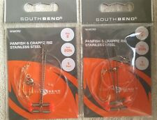 Lot Of 2 South Bend WWCR2 Panfish & Crappie Stainless Steel Rigs Sz 2 (SEALED)!