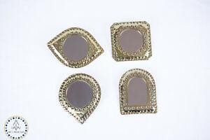 Cute mirror handheld mirror Brass Mirror Wall Mirrors Set geometric wall mirror