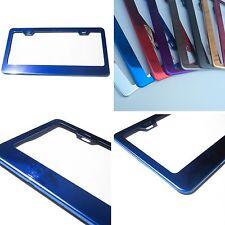 Powder Coated Blue Chrome Stainless Steel License Plate Frame Bracket Holder New