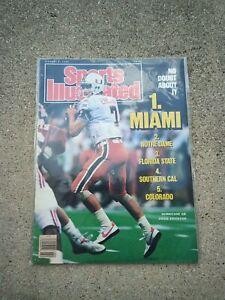 Sports Illustrated Craig Erickson Miami Hurricanes January 8 1990