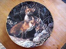 "Retired W.S. George Lmt. Ed. Plate Red Fox Family ""Full House: Fox Family"" #531B"