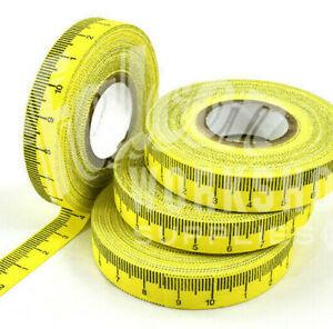 SELF ADHESIVE TAPE MEASURE - 1cm INCREMENTS - 10m ROLL - L to R - 10cm REPEAT
