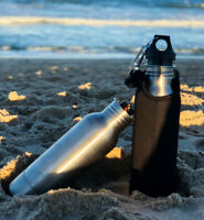 Stainless Steel Bottle Holder and Insulator, Includes a sleeve and bottle opener