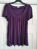 Fab Oasis Purple Short Sleeved Top, SizE 10, VGC