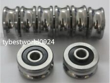 New 1pcs SG35 12*42*19mm U Groove Sealed Ball Track Guide Bearing Textile Machin