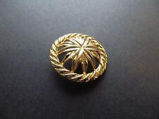 1980s Vintage Big Gold-tone Openwork Flower Solid Metal Coat Jacket Button-35mm