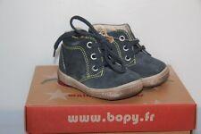 BOPY -  Zarcos - Chassures bébé Garçon -  Cuir marine -  T 20 neuf