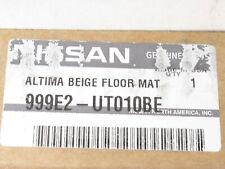Genuine OEM Nissan 999E2-UT010BE Carpeted Floor Mats 4pc Beige Tan 07-12 Altima