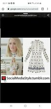BN Ted Baker White & Navy Star Print Dress Size 2 UK 10 RRP £159 Celebrity Fav!