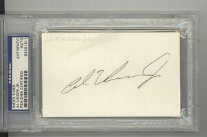 Al Unser Jr. auto autograph index card PSA DNA certified Indy 500 winner HOF