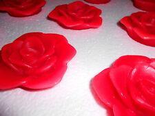 3 x LED Kerze Rose FLAMBIANCE Echtwachsrose Schwimmende Wachsrosen Wachs HSE