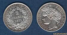 Gvt Défense Nationale 1870-1871 2 Francs Cérès 1871 A Paris SUP SPL Argent