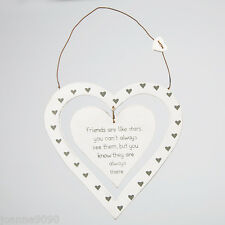 FRIENDS ARE LIKE STARS SHABBY HANGING LOVE HEART DECORATION KEEPSAKE HOME GIFT
