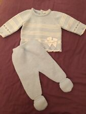 Baby Boys Girls Unisex Newborn 1 Month Spanish Blue Outfit Acrylic Occasion