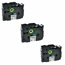 """3PK TZ241 TZe241 Black on White Label Tape for Brother P-touch PT-D400AD 3/4"""""""