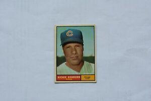 Richie Ashburn 1961 Topps Baseball Card #88 VG VGEX Cubs Phillies HOF No Creases