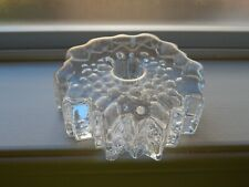 Hadeland Norway Willy Johansson NAUTILUS Crystal Scandinavian Candle Holder.