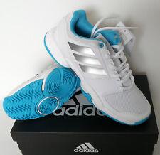 Topsale: Adidas Barricade XJ blanco/azul/plata-zapatillas de tenis para Girls y señora