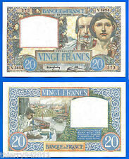 France 20 Francs 1941 18 September Science & Labor Europe Frc Frcs Free Ship Wld