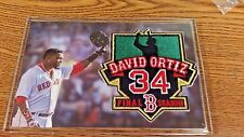 96ef0ad86 MLB BOSTON RED SOX DAVID ORTIZ PAPI #34 FINAL SEASON COMMEMORATIVE PATCH IN  CASE