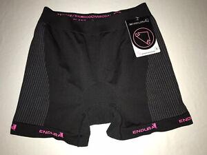ENDURA Padded Shorts CYCLE Womens Small Nylon Poly Spandex CONTOUR PINK NWT!