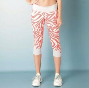 Stella McCartney Adidas Sport Zebra Print Leggins Size S / UK 8 - 10