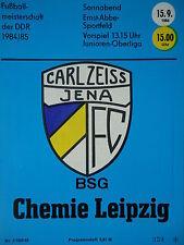 Programm 1984/85 FC Carl Zeiss Jena - Chemie Leipzig