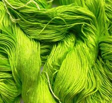 Luxury Maharaja Laceweight Silk Yarn, 100g. Lime Green, Weaving/Textiles