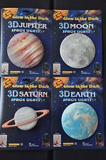 Glow in the Dark Set Earth Moon Jupiter Saturn Fluorescent Star Set Light Set 14,5cm