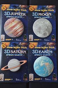 Glow in the dark Set Erde Jupiter Mond Saturn Leuchtstern Set Leucht Set 14,5cm