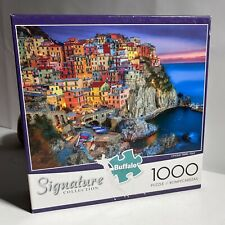 "Signature Collection 'Cinque Terre Italy' 1000 Piece Puzzle 26.7""x19.7"" Buffalo"