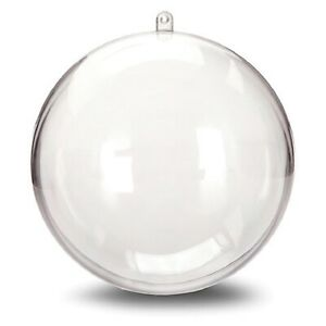 Clear Plastic Ornament Ball 140 MM – 1 Ball