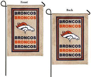 "NFL- Denver Broncos (12.5""x 18"") Team Logo Garden Flag (2 Sided)- FREE SHIPPING"