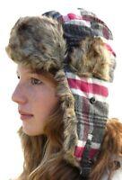 Style russe chapeau trapper ushanka - Taille 57cm (Moyen)