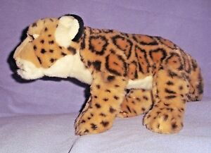 Ganz Webkinz Signature Spotted Jaguar Endangered Animal Stuffed Plush Toy 16""