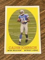 Vintage 2007 Topps #8 CALVIN JOHNSON Detroit Lions GA Tech 🐝 WR NFL HOF NM/Mt