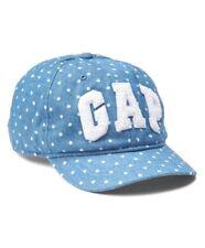 Gap Baby Girl Toddler Logo Eyelet Baseball Chambray Dot Hat Cap Size XS/ S Small