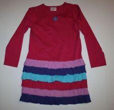 Vestidos de niña de 2 a 16 años de manga larga rosa de 100% algodón
