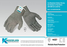 Kezzled Hand Protection - Cut Resistant Safety Gloves for Kitchen & Yard Work (E