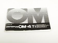 OLYMPUS OM-4 Ti instructions multilingual