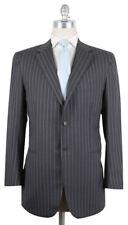 New $7200 Kiton Gray Suit - Light Blue Striped - 44/54