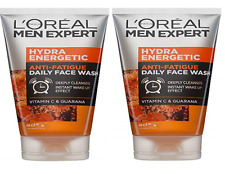 Loreal Mens Expert Hydra Energetic Anti Fatigue Daily Face Wash 5.07 oz (2 Pack)