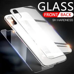 Panzerfolie für iPhone 11 X XR XS Max 8 7 6 Plus Display Schutzglas 9H Echt Glas