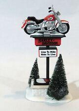Dept. 56 Harley-Davidson Motorcycle Sign Snow Village H-D Series No. 54901