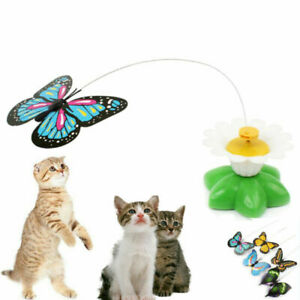 Pet Cat Toys Plaything Electric Rotating Butterfly Cat Interactive Toy