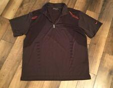 Men's Nike Golf Dry Fit Short Sleeve Shirt .Size Xl.Black/Red Trim