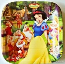 SNOW WHITE Princess Party Birthday Plates Cake Decoration Supplies Dessert 8PCS