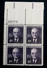 US Stamps, Scott #1172 John Foster Dulles Issue 1960 4c Plate Block XF M/NH