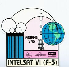 AUTOCOLLANT / STICKER - ARIANESPACE - ARIANE V45 - INTELSAT VI (F-5) HUGHES